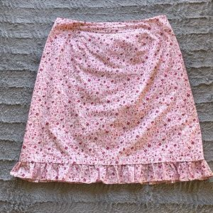 Talbots Pink Floral Skirt